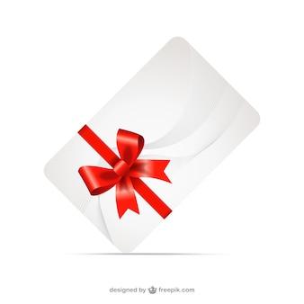 Geschenk-karte mit roter schleife