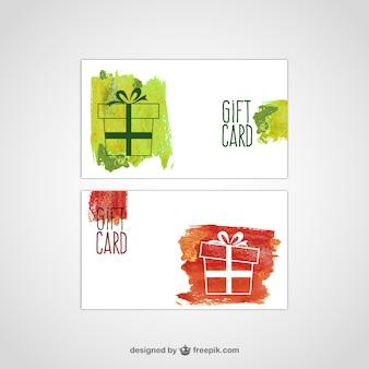 Geschenk-karte vektor-