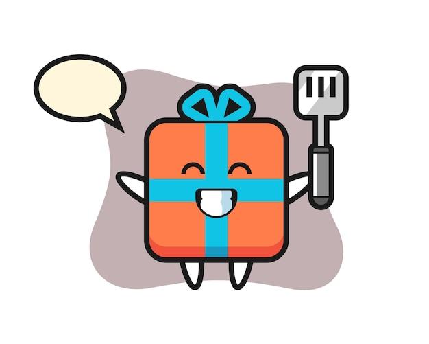 Geschenkbox charakter als koch kocht