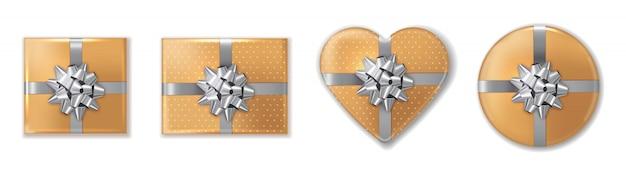 Geschenkbox mit goldenem silber