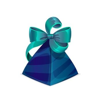 Geschenkbox mit schleife, geburtstags- oder hochzeitsgeschenk