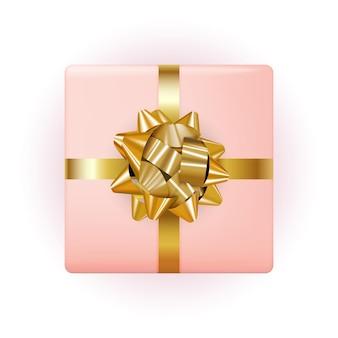 Geschenkbox mit schleife und band.