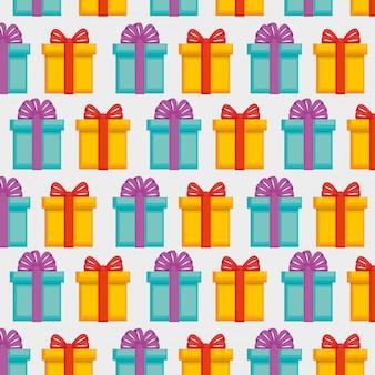 Geschenkbox mit schleifenmuster