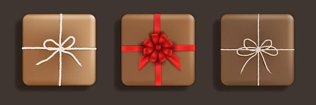 Geschenkbox-set sammlung von geschenkgeschenken