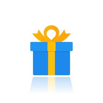Geschenkbox-symbol isoliert auf weiß