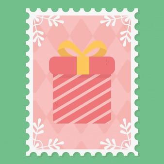 Geschenkbox weihnachtsstempel