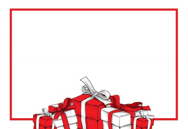 Geschenkboxen für grußkartenvorlage