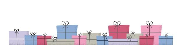 Geschenkboxen mit band und schleife flach