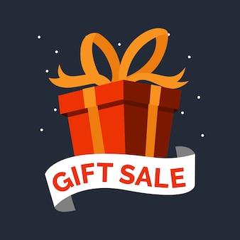 Geschenkboxgeburtstag feiern großen verkaufshintergrund des weihnachtstages