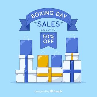 Geschenke haufen boxing day hintergrund