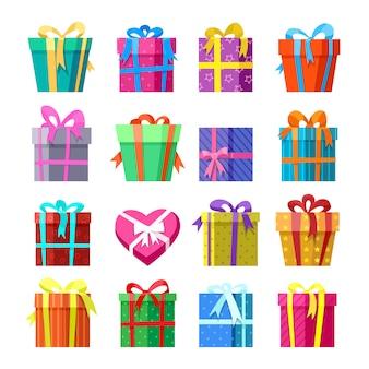 Geschenke oder geschenkboxen icocns eingestellt
