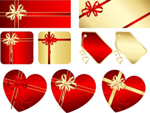Geschenke und etiketten