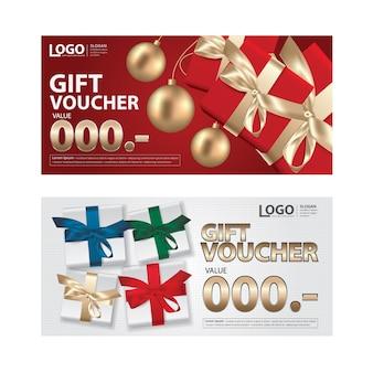 Geschenkgutschein-coupon-vorlage für ihre geschäfts-vektor-illustration