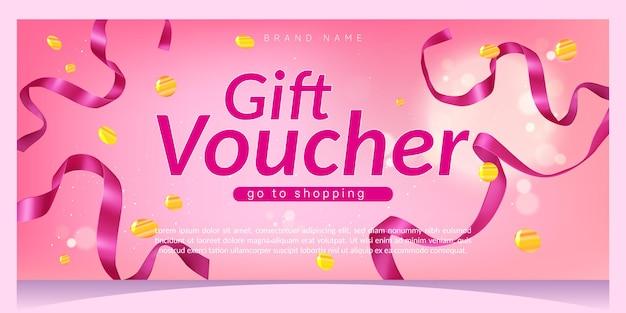 Geschenkgutschein einkaufsgutschein mit bändern