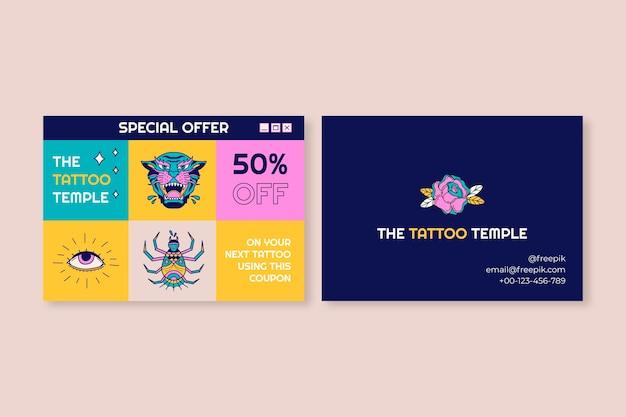 Geschenkgutschein für moderne coole tattoo-kunst