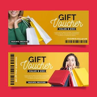 Geschenkgutschein mit rabattvorlage