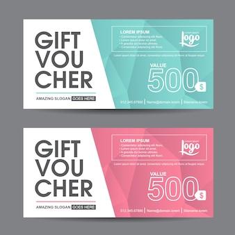 Geschenkgutschein rabatt promotion vorlage