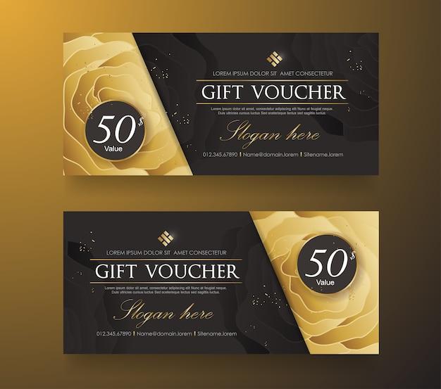 Geschenkgutschein-rabattschablone mit luxusmuster