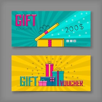 Geschenkgutschein set vorlage