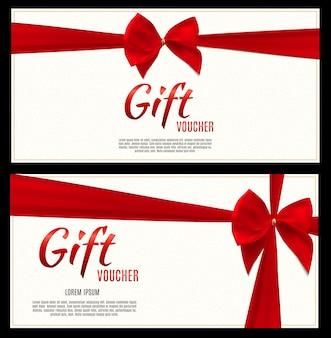 Geschenkgutschein-vorlage für ihr unternehmen. illustration