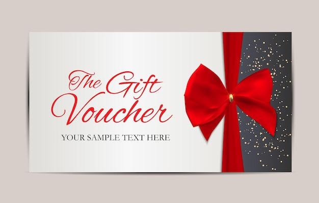 Geschenkgutschein-vorlage-vektor-illustration für ihr unternehmen eps10