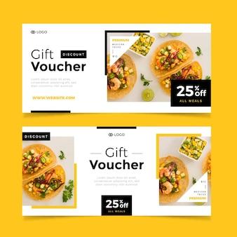 Geschenkgutschein-vorlagenpaket mit bild