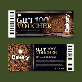 Geschenkgutschein-vorlagenpaket mit foto