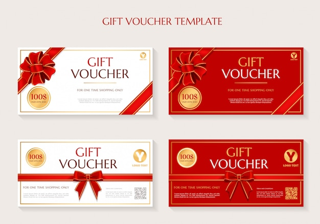 Geschenkgutschein-vorlagensatz