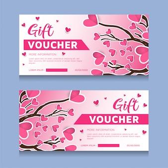 Geschenkgutscheinschablone für valentinstag