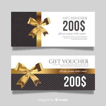 Geschenkgutscheinvorlage im modernen stil
