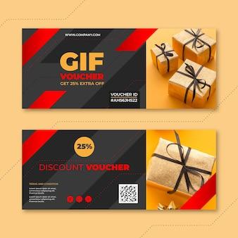 Geschenkgutscheinvorlage mit foto