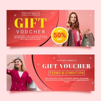 Geschenkgutscheinvorlage mit rabatt