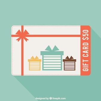 Geschenkkarte im cartoon-stil