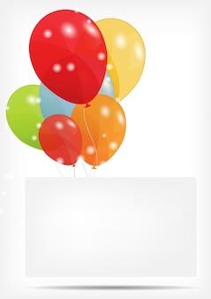 Geschenkkarte mit ballonillustration