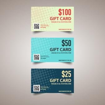 Geschenkkarte mit punkten verziert