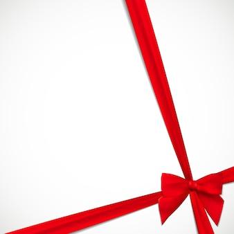 Geschenkkarte mit rotem band und schleife. illustration