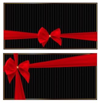 Geschenkkarte oder gutschein mit schleife