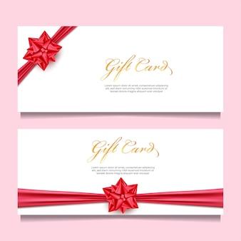 Geschenkkartenschablone mit rotem band