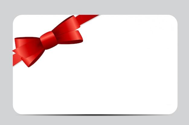 Geschenkkartenset mit rotem band und schleife.