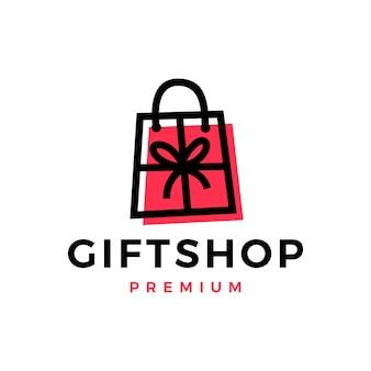 Geschenkladen-einkaufstasche-logo