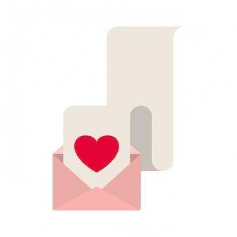 Geschenkliste mit umschlag lokalisierter ikone