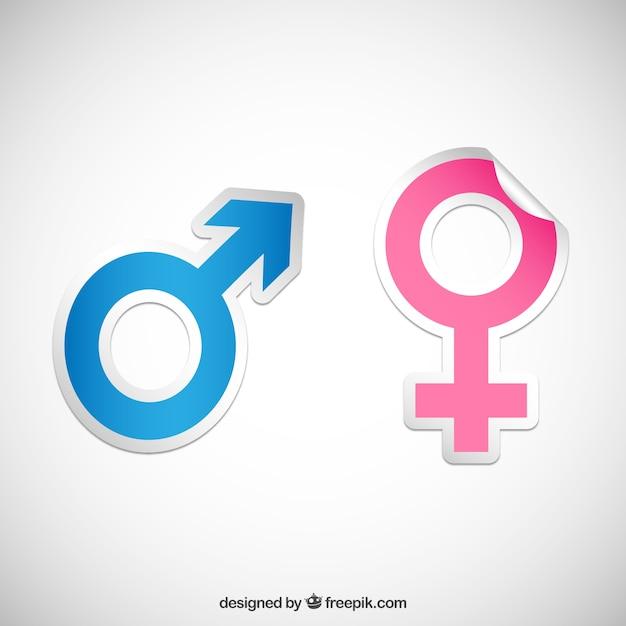 Geschlecht symbol aufkleber