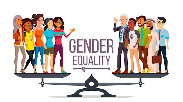 Geschlechtergleichheit Premium Vektoren