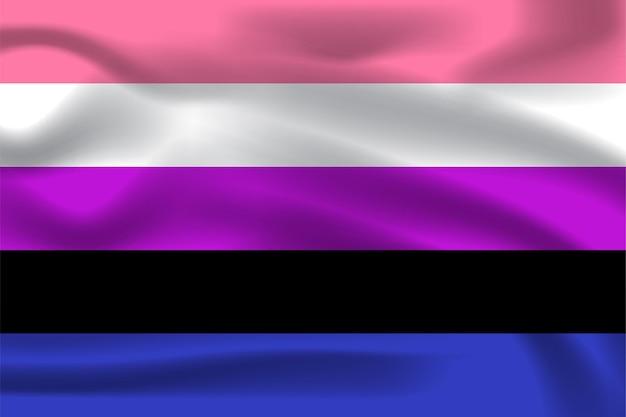 Geschlechtsflagge für lgbtq-freie vektorillustration