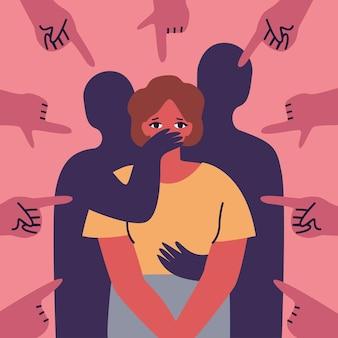 Geschlechtsspezifische gewalt, die das diskriminierungskonzept verspottet