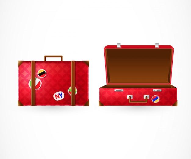 Geschlossene und offene koffer