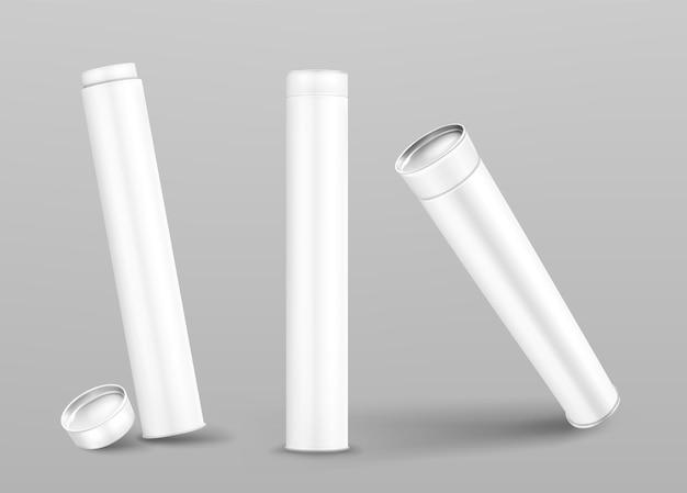 Geschlossene und offene pappzylinder
