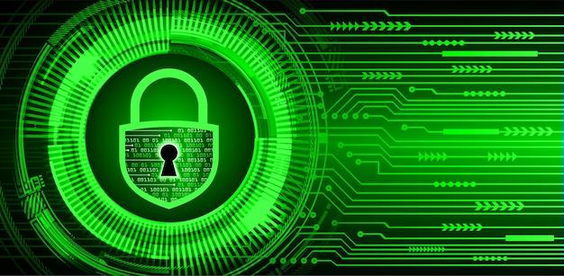 Geschlossenes vorhängeschloss auf digitalem hintergrund, cybersicherheit