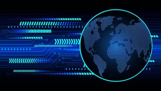 Geschlossenes vorhängeschloß auf digitalem hintergrund, world cyber security