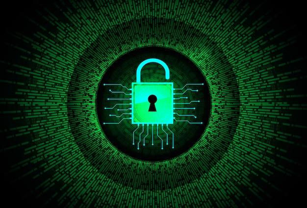 Geschlossenes vorhängeschloss für digitale cybersicherheit